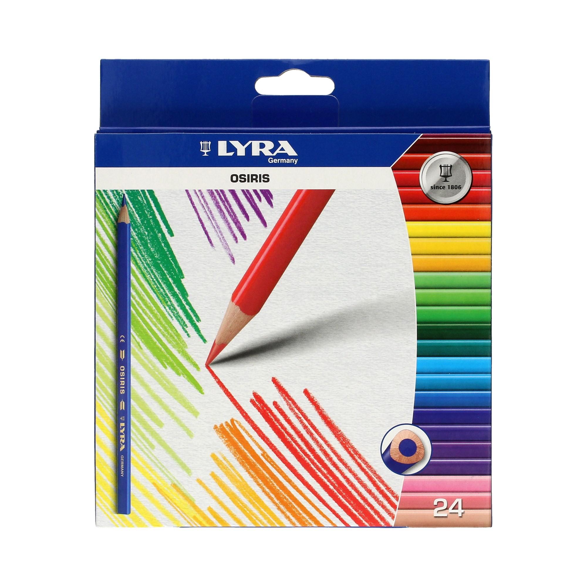 Kredki LYRA trójkatne 24 kolory